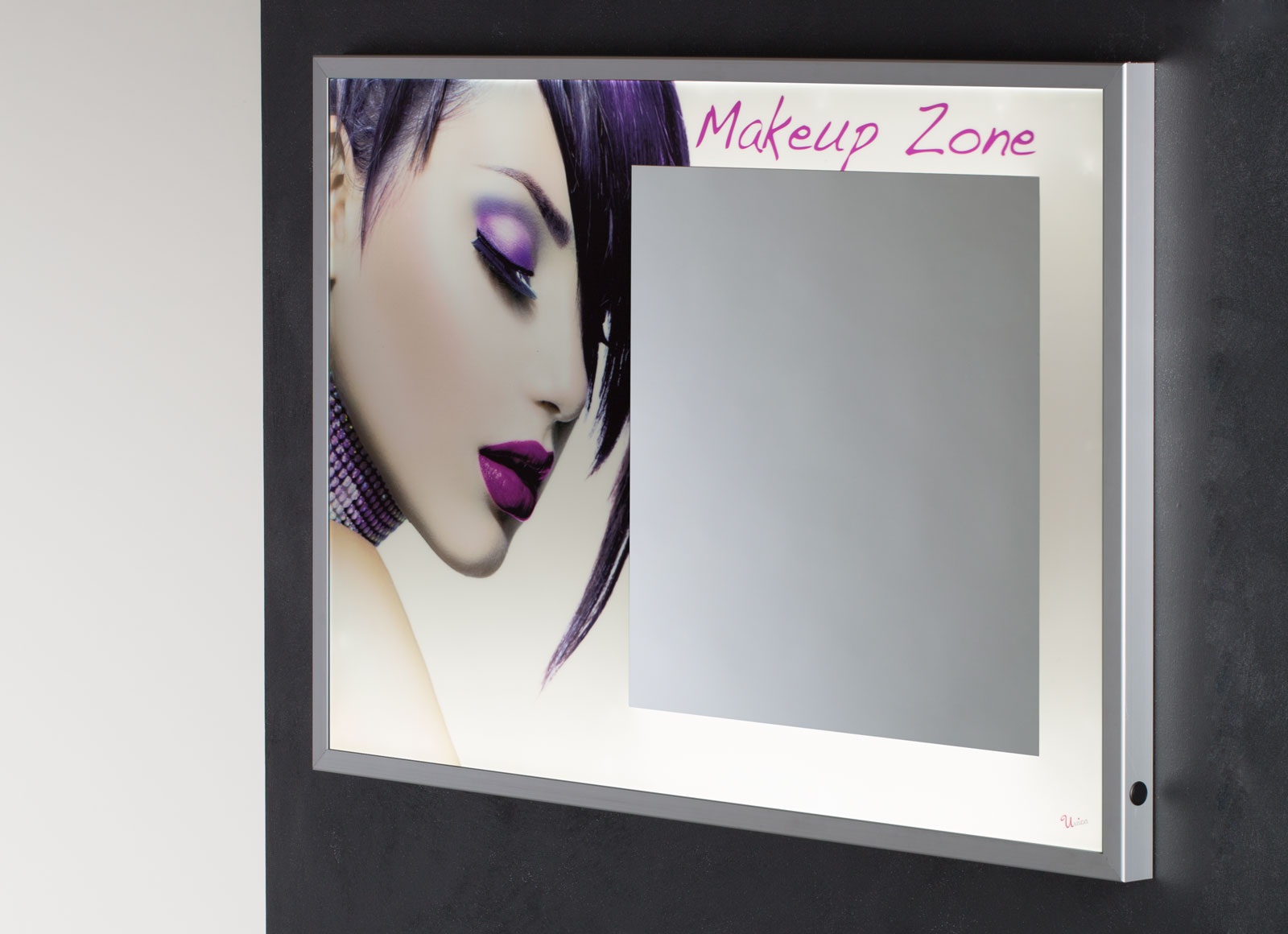 MPH backlit LED panel with integrated mirror