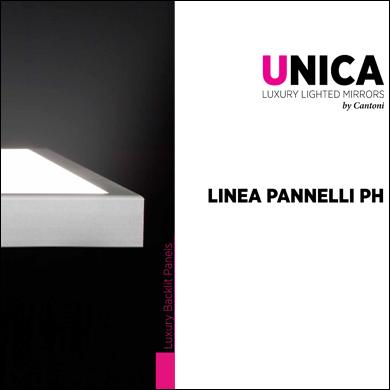 Linea PH pannelli led retroilluminati con immagine interscambiale