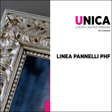 Linea PHF pannelli quadri led retroilluminati con cornice