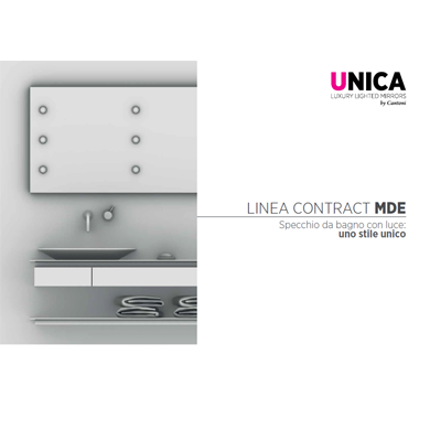 Catalogo specchi per contract Unica 2019
