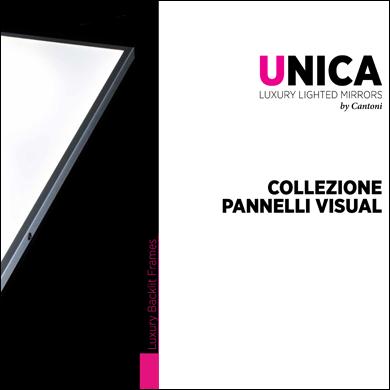 Collezione pannelli retroilluminati led Unica by Cantoni 2017