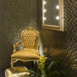 Gold Baroque MF mirror Unica by Cantoni