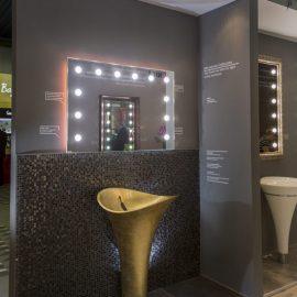 Specchio bagno MH01XL 1400x1020 16 lenti I-light e retroilluminazione