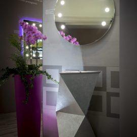 Specchio I-light tondo per bagno Unica by Cantoni