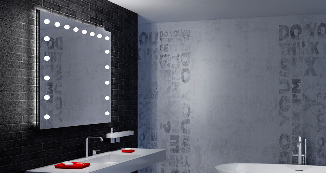 MH01 led Lighted mirrors for bathrooms I-light System