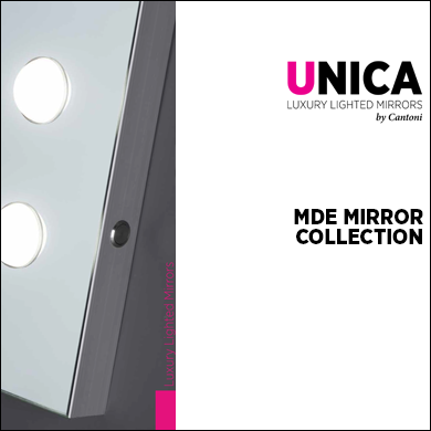 MDE lighted mirrors Catalogue 2017 Unica by Cantoni