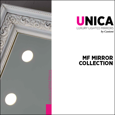 MF lighted mirrors Catalogue 2017 Unica by Cantoni