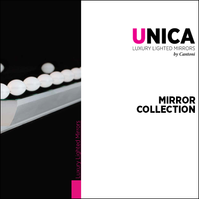 Catalogue for the Unica Collection of Lighted Mirrors and Panels