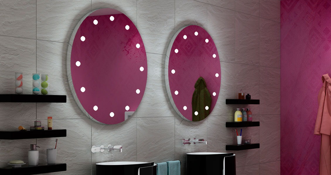 MDE100 Round led Lighted mirrors for bathrooms