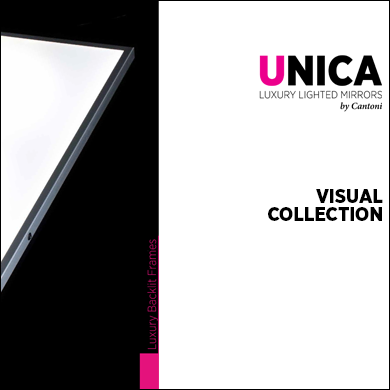 Catalogue for the Unica Collection of slim led backit panels 2017