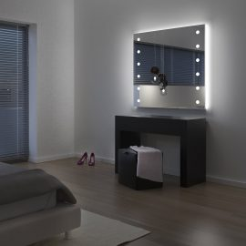 Lighted beauty corner for hospitality and wellness