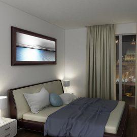 Pannello retroilluminato LED per arredo hotel con sistema di cambio immagine a pressione