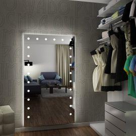 Specchio MH Unica a figura intera a 24 luci per suite hotel