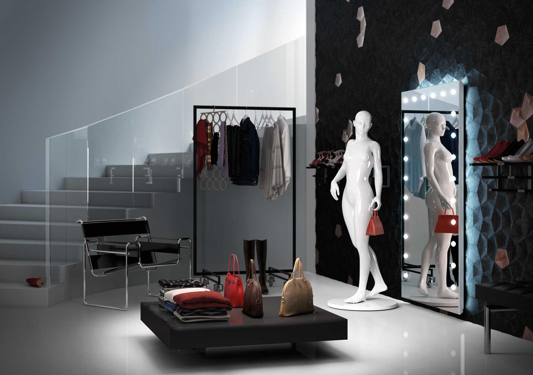 Punto vendita con Specchio by Linea Unica