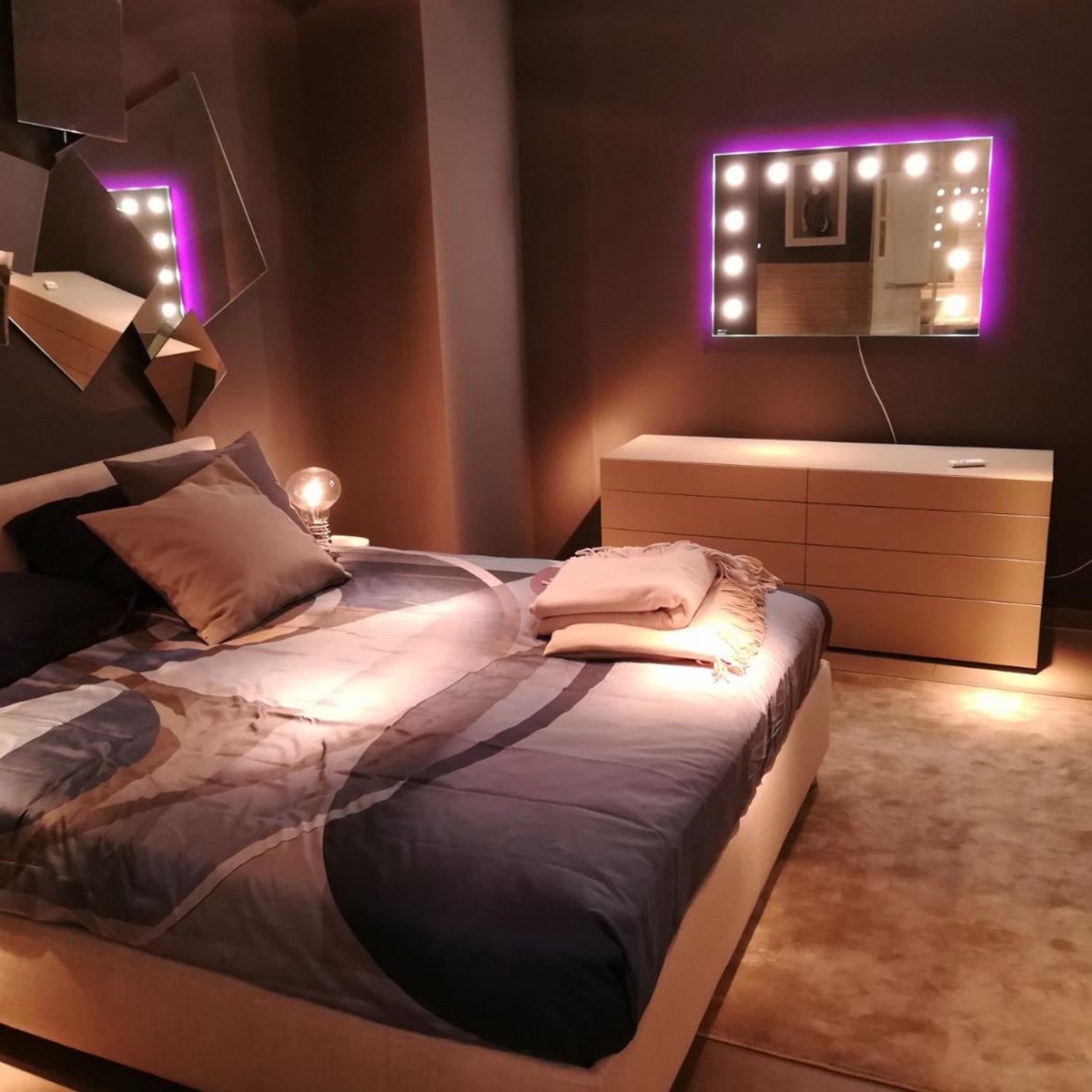 Divino Mirror light up the bedroom