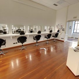 Unica mirrors for the makeup school furnishing