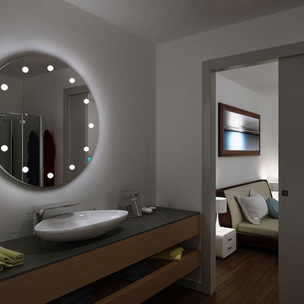 Hotel Bathroom Mirrors The Perfect Lighting Linea Unica