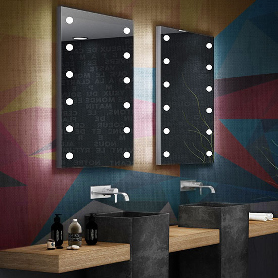 Specchio con luci LED Unica