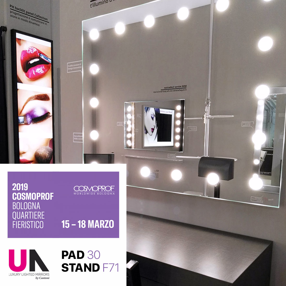 Cosmoprof 2019 e gli specchi Unica