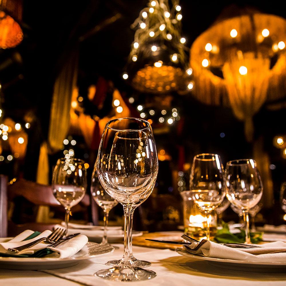 Arredo per un ristorante romantico
