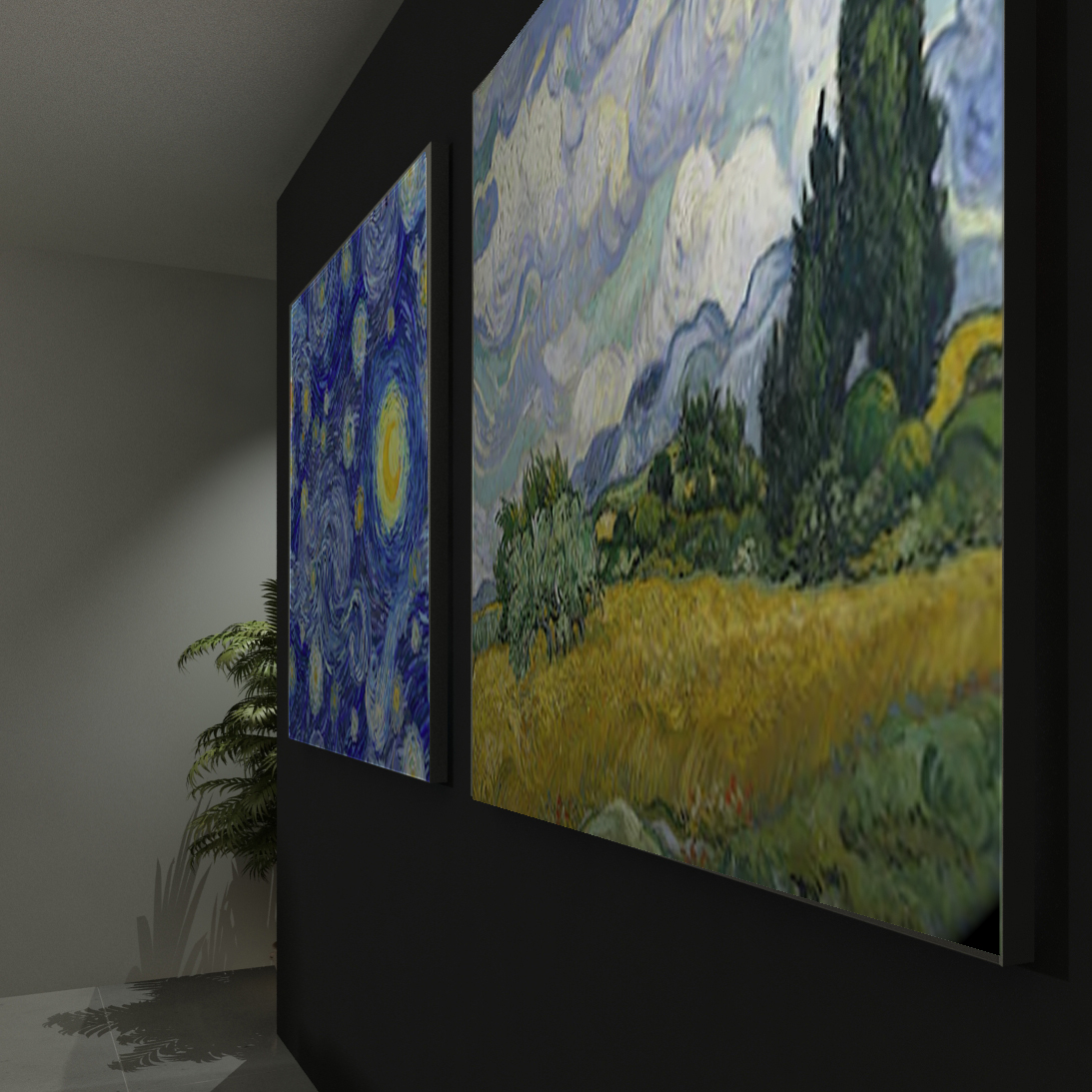 Quadri Luminosi Unica: riproduzioni Van Gogh