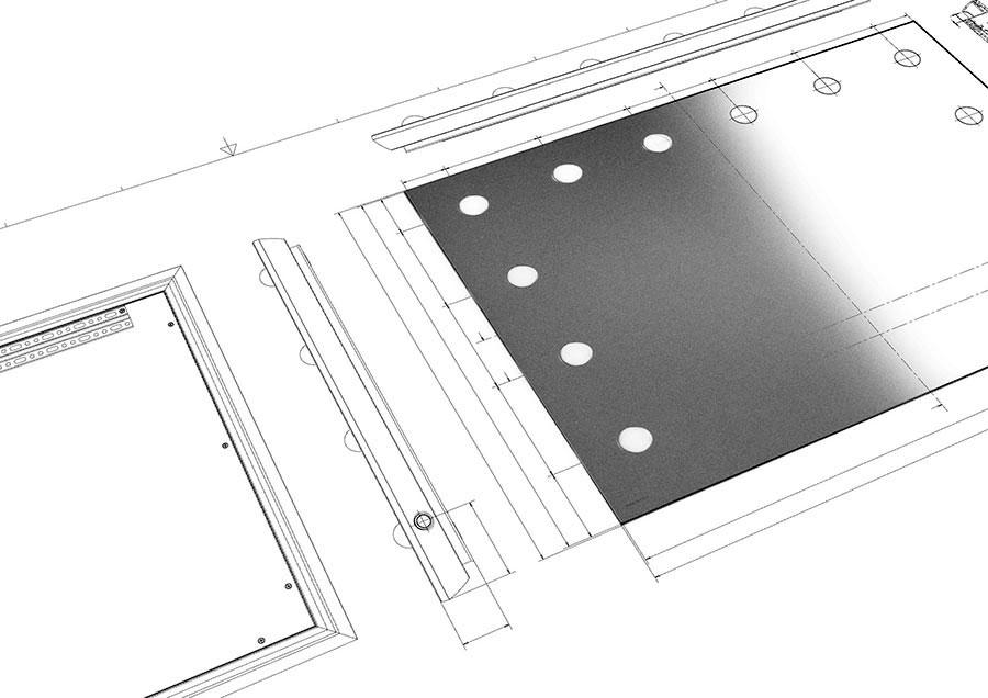 progettazione specchi su misura