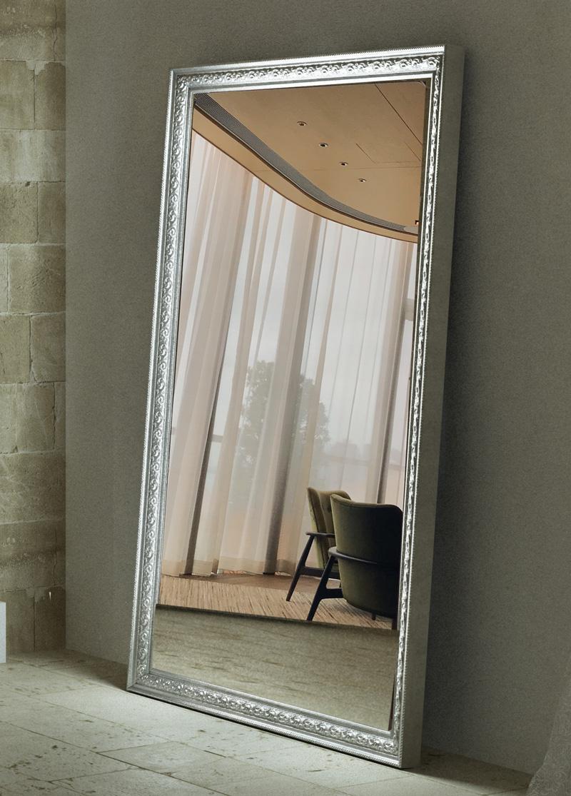 large floor silver mirror