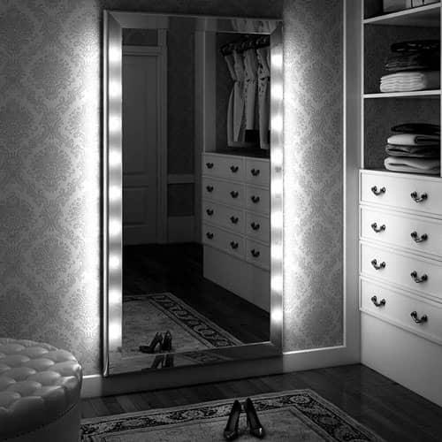 specchio per cabina armadio con luci