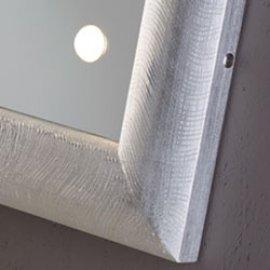 Specchi illuminati MF con cornice in legno o pelle